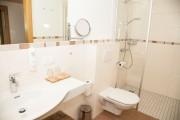 Badezimmer im Familienhotel Berger